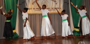 Charagape Preparatory performs a Dance,I look to you by Whitney Houston